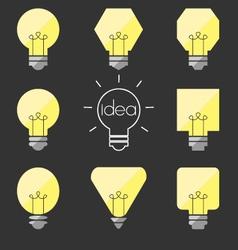 Shape idea lamp vector
