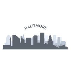 Silhouette baltimore skyline - baltimore vector