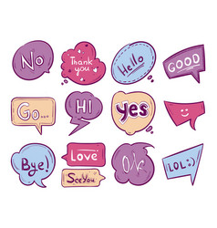 sketch doodle speech bubble vector image
