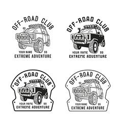 Stock off road club emblem vector