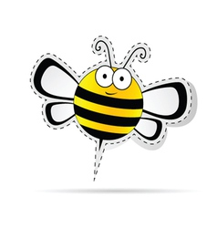 Sweet bee cartoon vector
