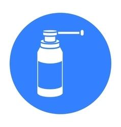 Throat spray icon black single medicine icon from vector
