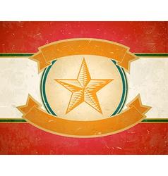 Vintage star label vector image