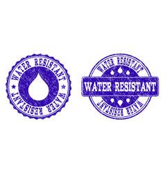 Water resistant grunge stamp seals vector