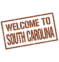 Welcome to south carolina stamp vector