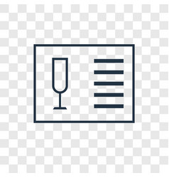 wine list concept linear icon isolated on vector image