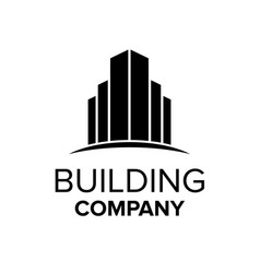building logo template abstract real estate vector image