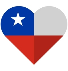 Chile flat heart flag vector image