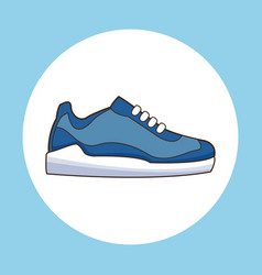 sneaker shoe sport icon vector image