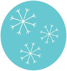 Snowflake icon label vector image vector image