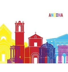 Ancona skyline pop vector image