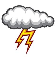 Cloud lighting icon vector image