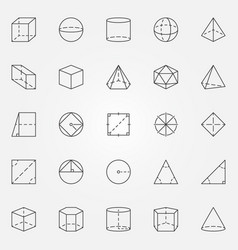 geometry and trigonometry icons set vector image