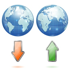 Global Upload and Download Concept vector image