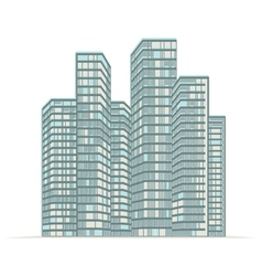 high rise buildings of the city vector image