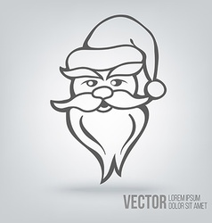 Icon Santa Claus isolated black on white vector image vector image