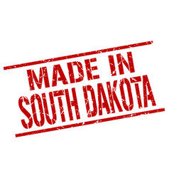 made in south dakota stamp vector image vector image