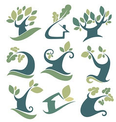 nature and tree vector image vector image