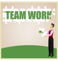 Puzzle Teamwork vector image vector image