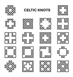 Square Celtic Knots vector image