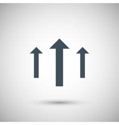 Three blue arrow vector image
