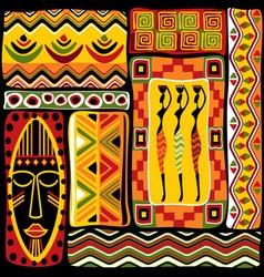 afrikan design set vector image vector image
