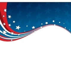 American Flag patriotic background vector image vector image