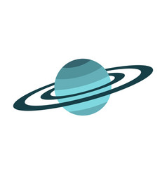 saturn icon flat style vector image