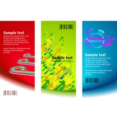set of banner backgrounds vector image