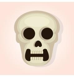 skull head dead day vector image vector image