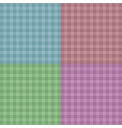 background Easy tileable red blue pink and green vector image