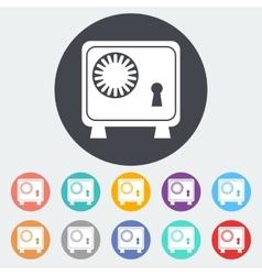 Bank safe icon vector image vector image