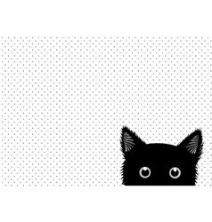 Black Cat Dots Background vector image