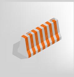 iron concrete block isometric vector image vector image