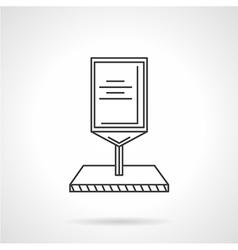 Line icon for roadside billboard vector image vector image