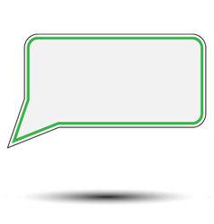 Sticker speech bubble vector image