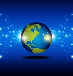 telecommunication concept background vector image