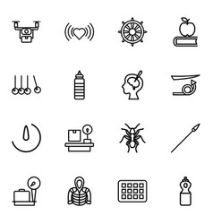 16 long icons vector