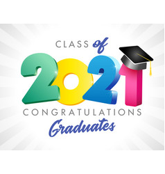 2021 colored graduates class 3d vector
