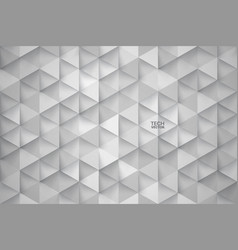 3d technology triangular abstract background vector image