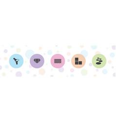 5 stone icons vector
