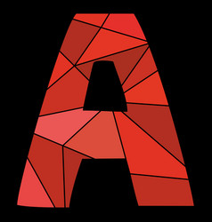 A red alphabet letter isolated on black background vector