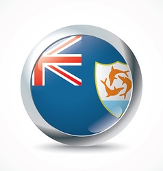 Anguilla flag button vector image