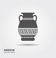 Antique greek vase vector