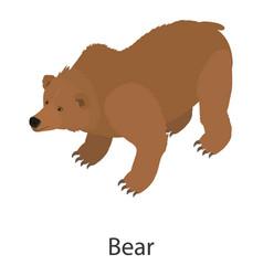 bear icon isometric style vector image