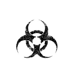 Biohazard symbol in grunge style isolated on vector