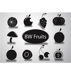 Black and White Fruits logo vector image