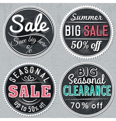 black round banners with sale offer vector image