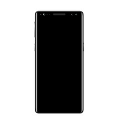 black smartphone isolated vector image