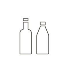 bottles icon simple element from map and vector image